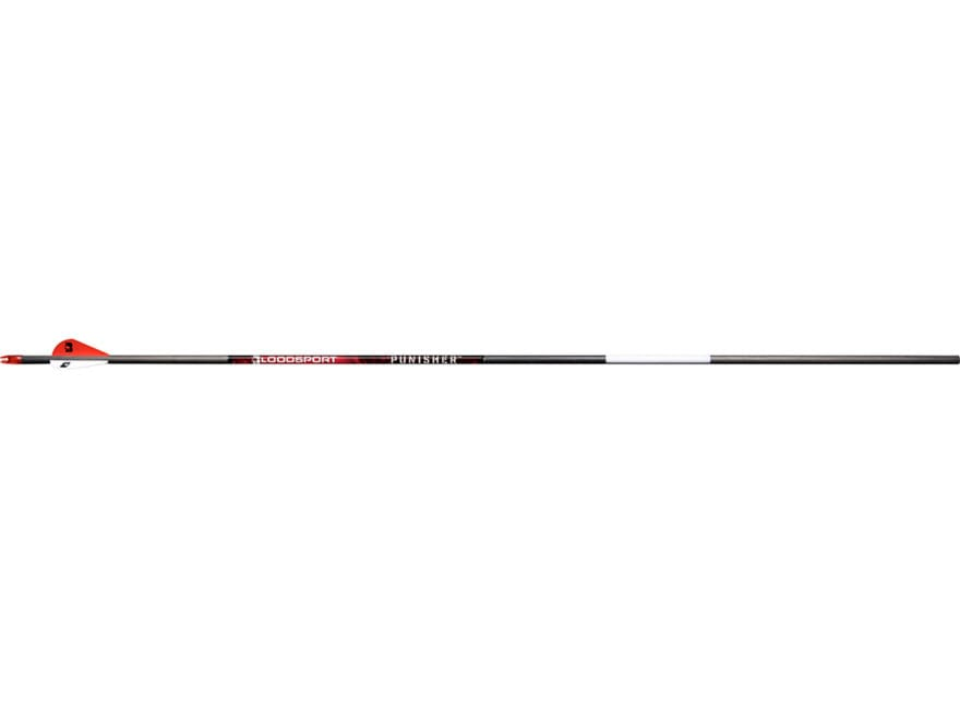 "Bloodsport Punisher Carbon Arrow 2"" Vanes Black Pack of 6"