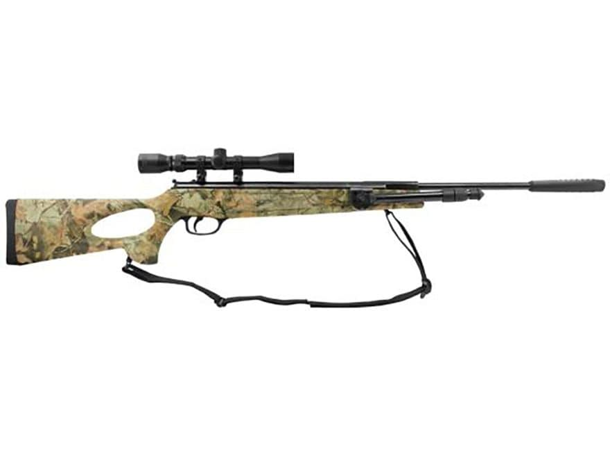 Winchester 1250 Air Rifle 177 Caliber Pellet Polymer Camo Stock Blue Barrel with 3-9x32...