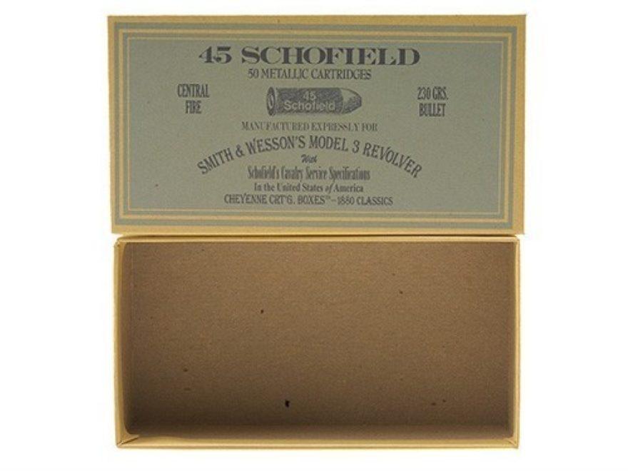 Cheyenne Pioneer Cartridge Box 45 S&W Schofield Chipboard Pack of 5