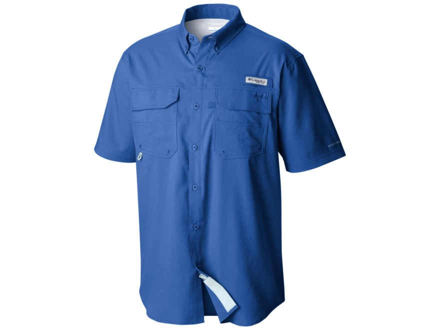 Columbia Men's PFG Blood and Guts III Button-Up Shirt Short Sleeve Polyester