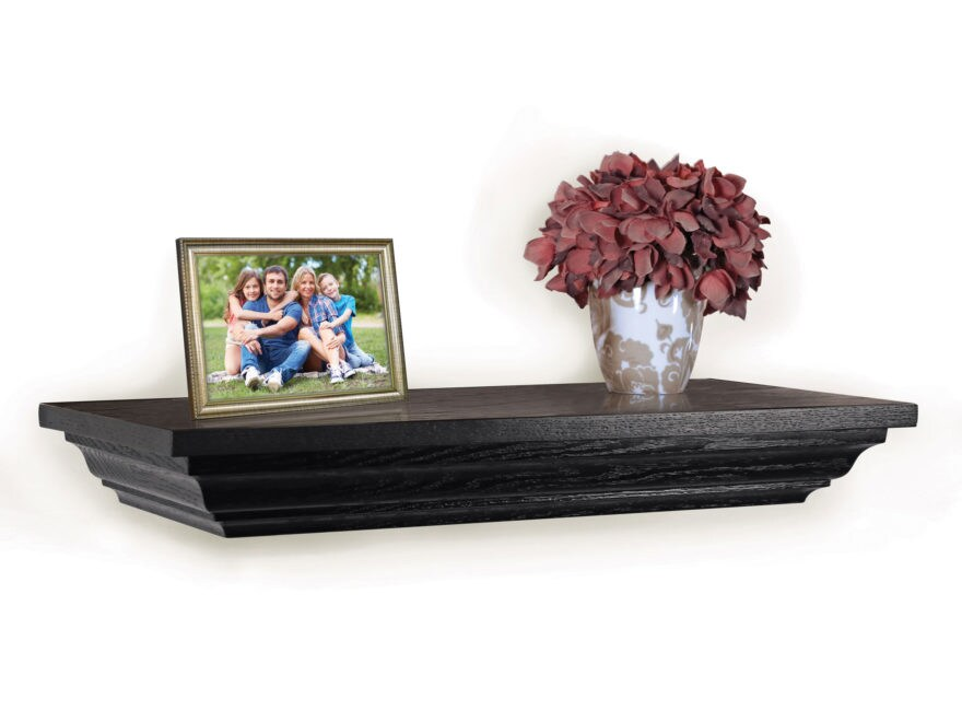 "Covert Cabinets 24"" x 11"" x 3"" Concealment Shelf Black"