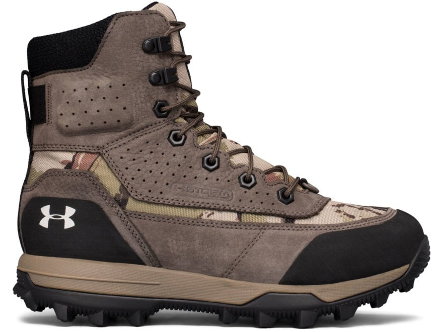 "Under Armour UA Speed Freek Bozeman 2.0 8"" Insulated Hunting Boots Leather/Synthetic Wo..."