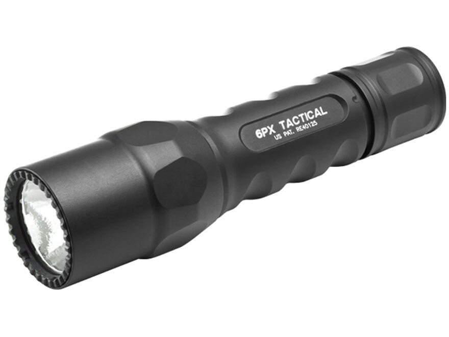 Surefire 6PX Tactical Flashlight LED with 2 CR123A Batteries Aluminum Black