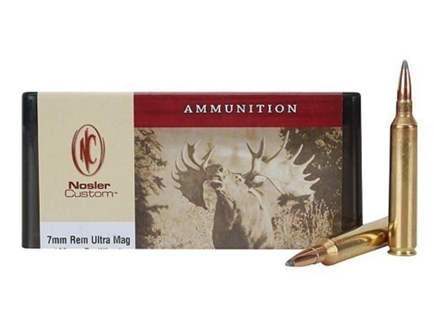 Nosler Custom Ammunition 7mm Remington Ultra Magnum 160 Grain Partition Spitzer Box of 20
