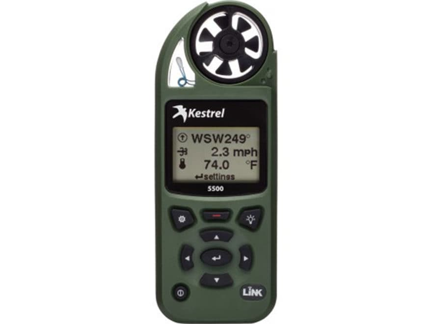 Kestrel 5500 Electronic Hand Held Weather Meter with LINK and Vane Mount