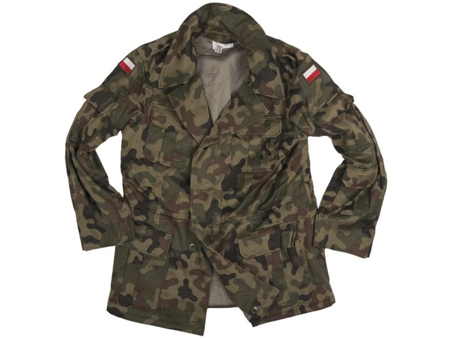 Military Surplus Polish M93 Field Jacket with Liner Camo