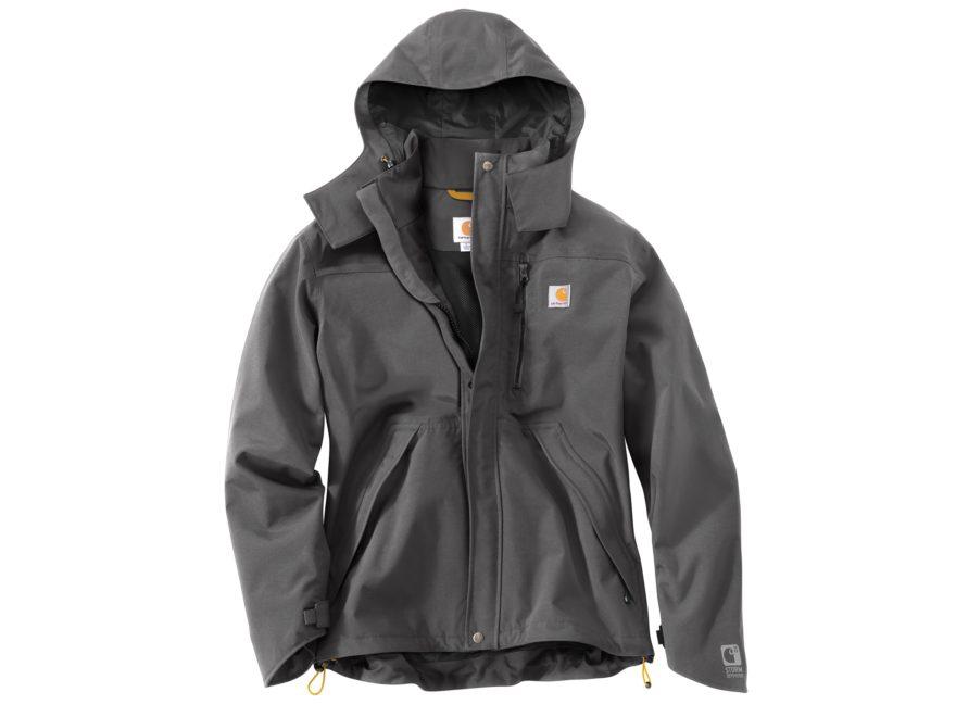 a8f086836148e Carhartt Men s Shoreline Waterproof Rain Jacket Nylon Black 3XL Tall