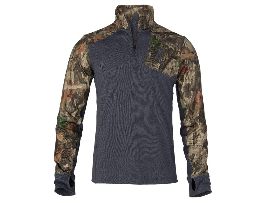 Browning Men's Hell's Canyon Speed MHS-FM Base Layer 1/4 Zip Long Sleeve Shirt Merino Wool