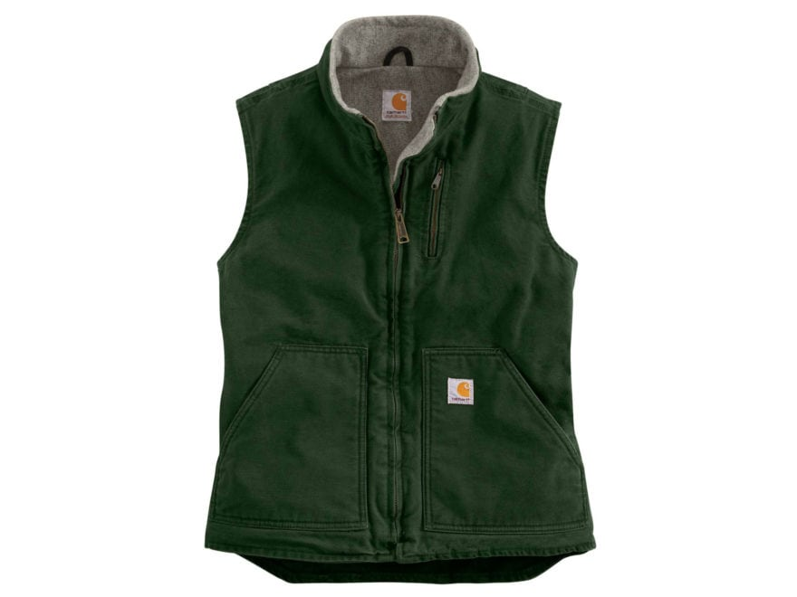 Carhartt Women's Sandstone Mock Neck Vest Cotton