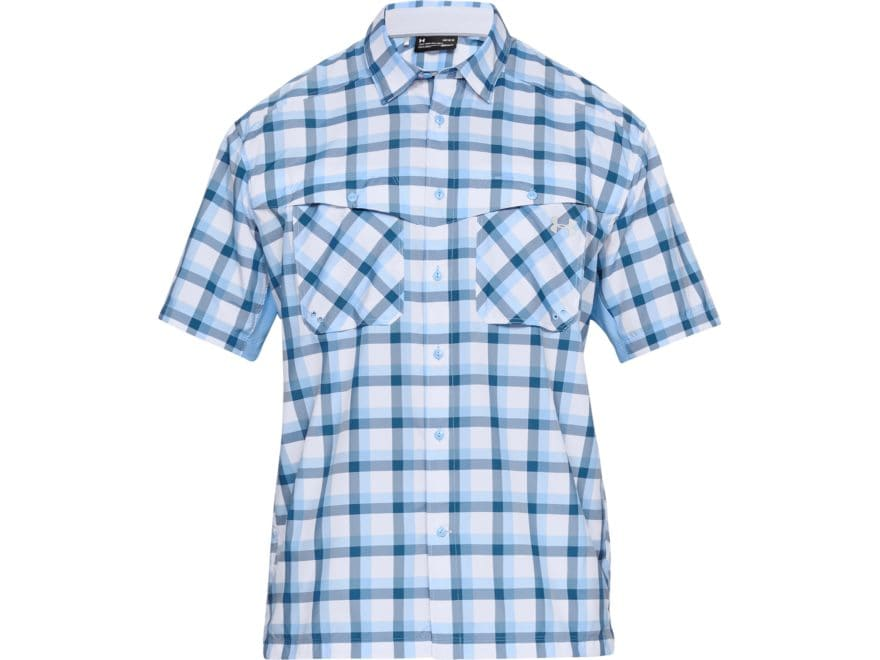 Under Armour Men's UA Tide Chaser Plaid Button-Up Short Sleeve Shirt Polyester