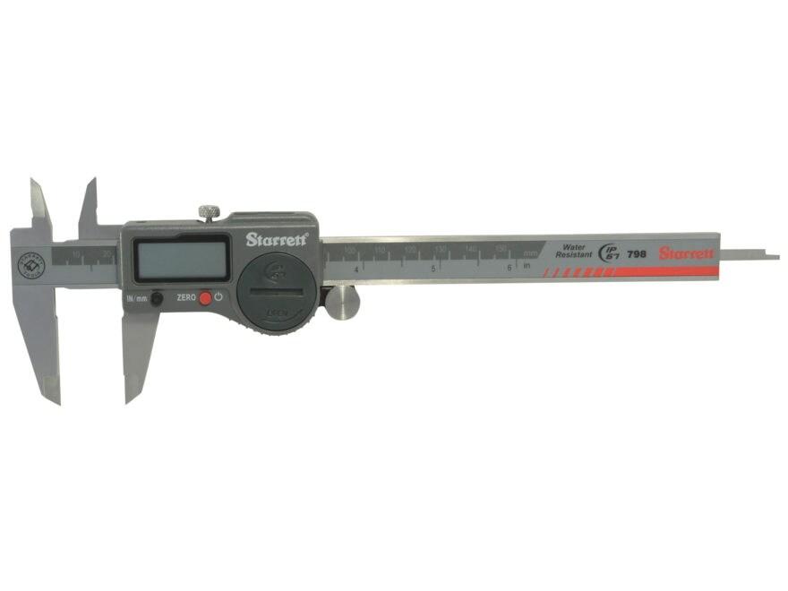 """Starrett 798 Digital Caliper 6"""" Stainless Steel"""