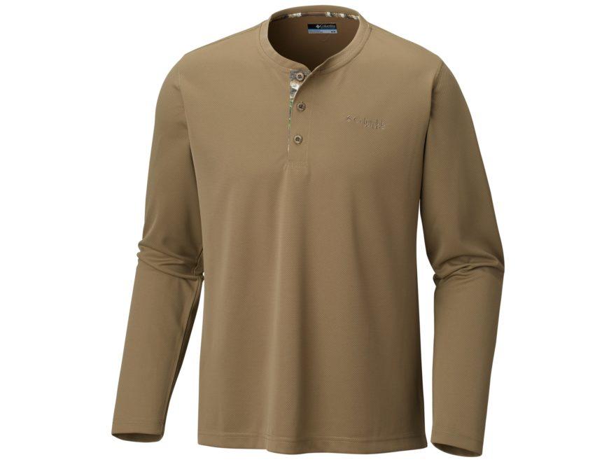 Columbia Men's PHG Bucktail Henley Shirt Long Sleeve Polyester
