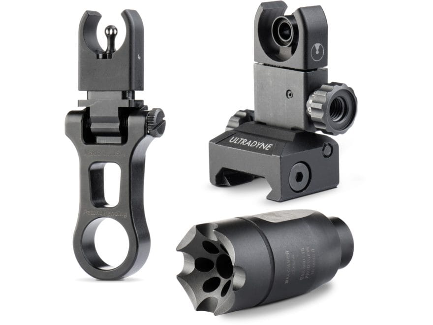 Ultradyne C4 Sight System Combo Dynamount Flip-Up Front Sight, Flip-Up Rear Sight, Athe...