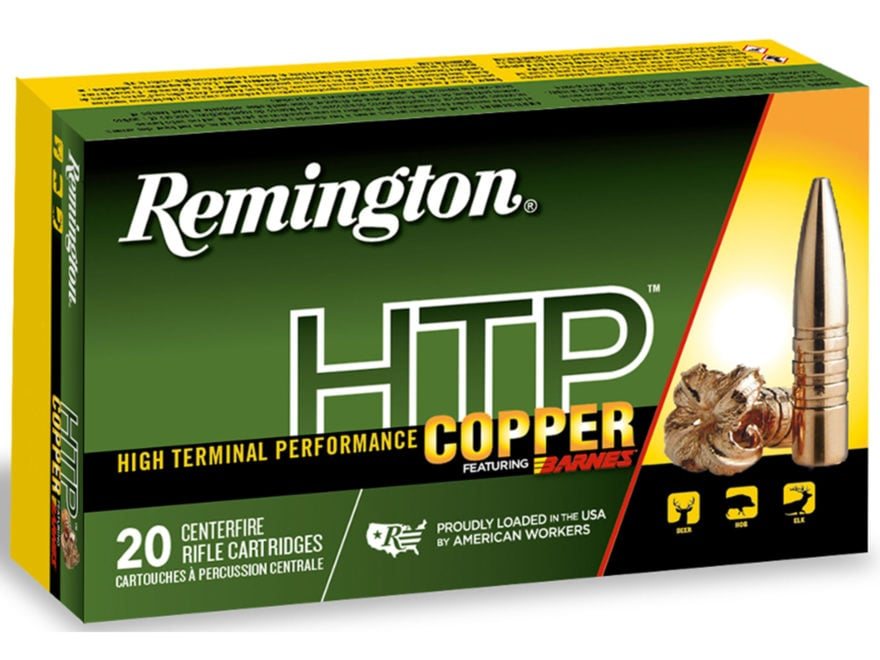 Remington HTP Copper Ammunition 308 Winchester 168 Grain Barnes TSX Hollow Point Boat T...