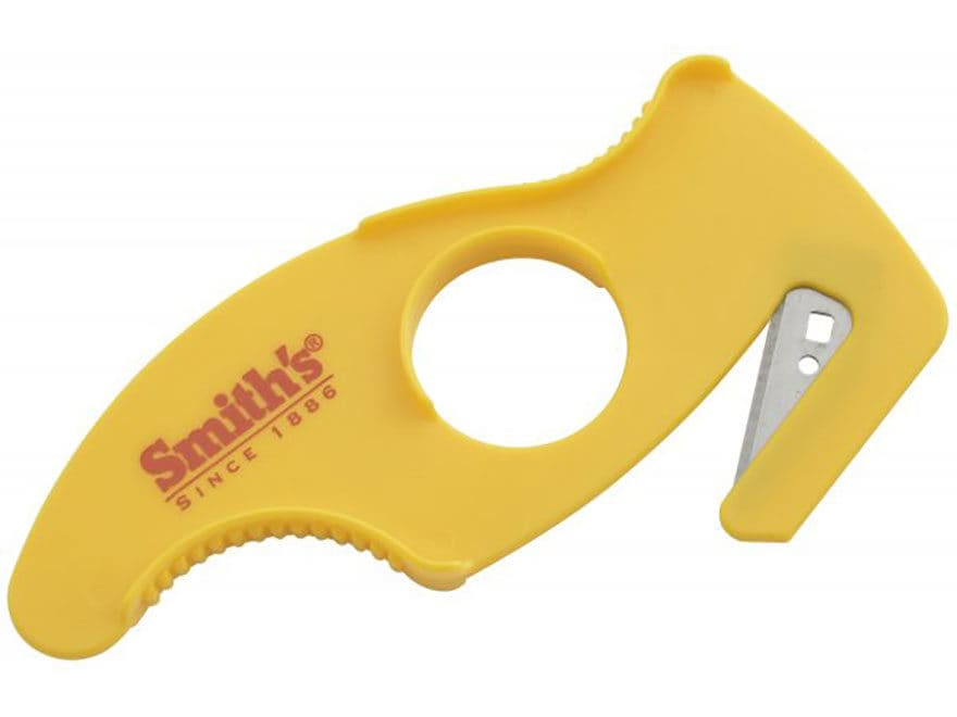Smith's Disposable Gut Hooks Stainless Steel Blade Plastic Handle Yellow Pack of 4