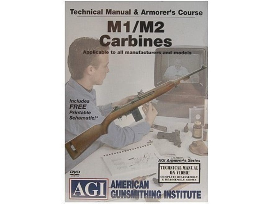 "American Gunsmithing Institute (AGI) Technical Manual & Armorer's Course Video ""M1/M2 C..."
