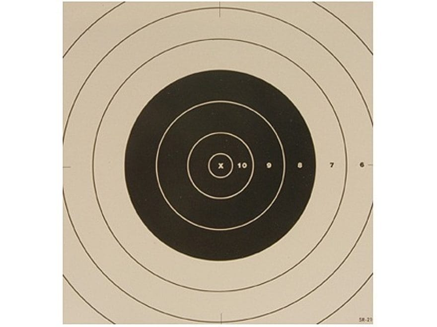 NRA Official High Power Rifle Targets Repair Center SR-21C 100 Yard Rapid Fire Paper Pa...