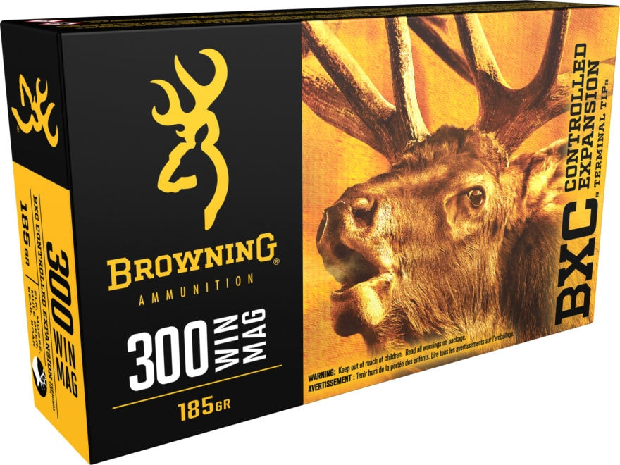 Browning BXC Controlled Expansion Ammunition 300 Winchester Magnum 185 Grain Terminal T...