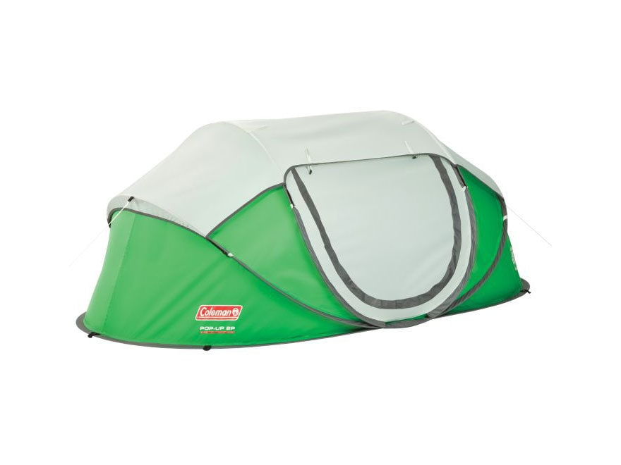 Coleman 2-Person Popup Tent Polyester Green and Silver