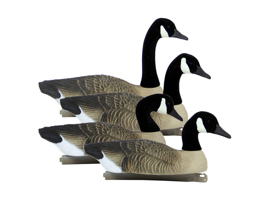 Higdon Full Size Floater Canada Goose Decoy Polymer Pack of 4
