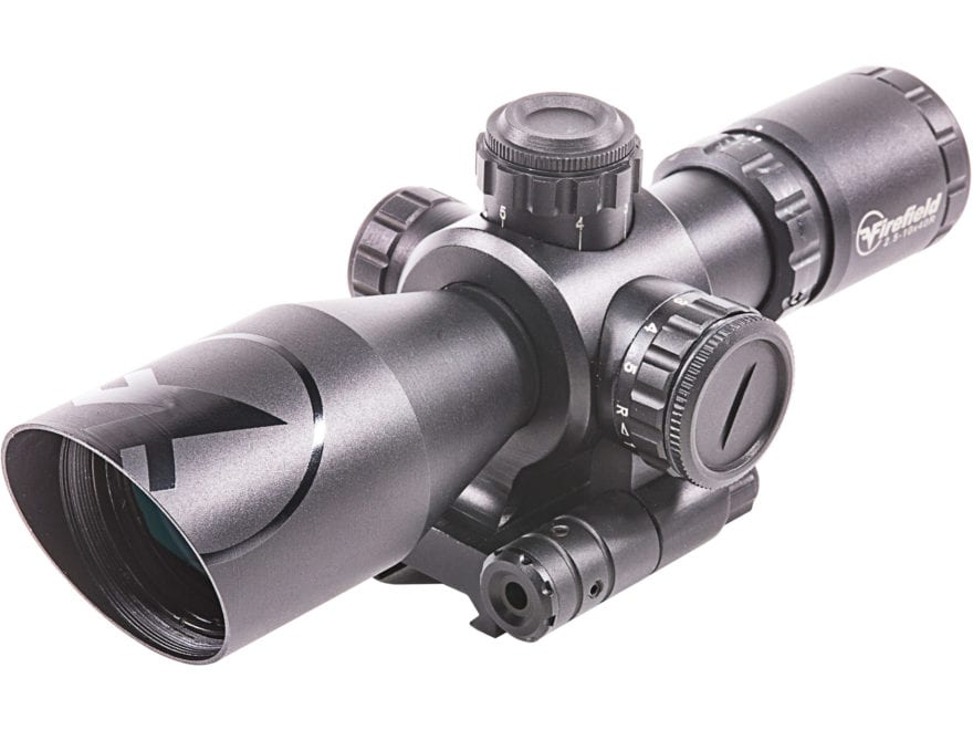 Firefield Barrage Rifle Scope 2.5-10x 40mm Illuminated Mil-Dot Reticle with Laser Sight...