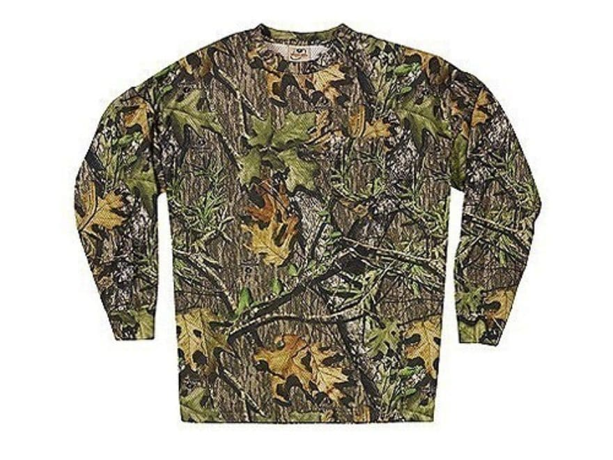 99d50803f2884 Russell Outdoors Men's Explorer Mesh T-Shirt Long Sleeve Cotton Mossy