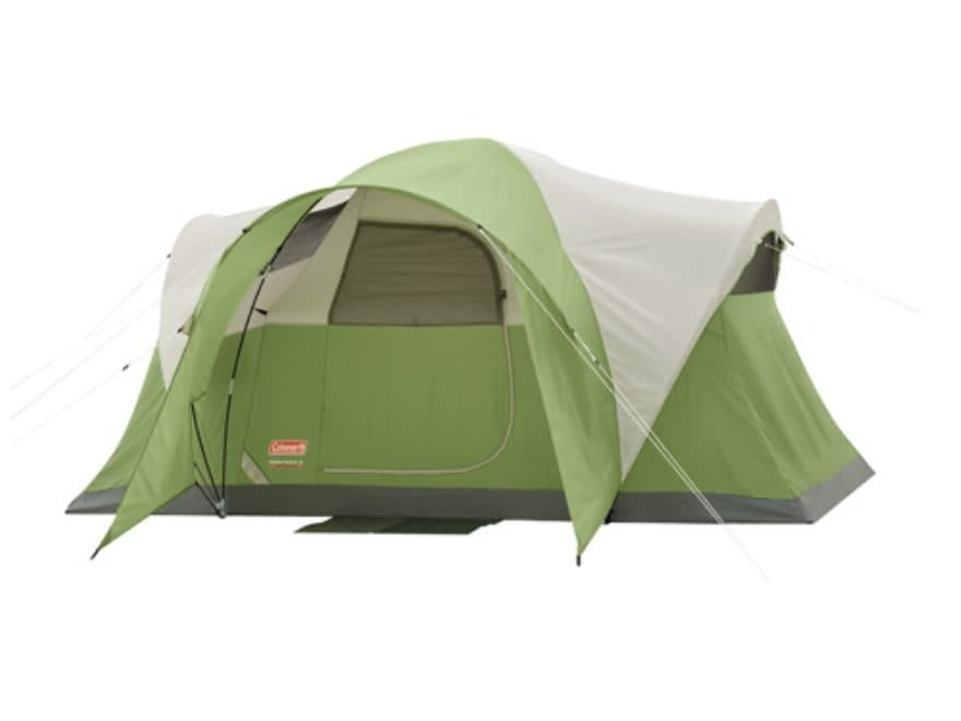 "Coleman Montana 6 Person Modified Dome Tent 144"" x 84"" x 68"" Polyester Green and White"
