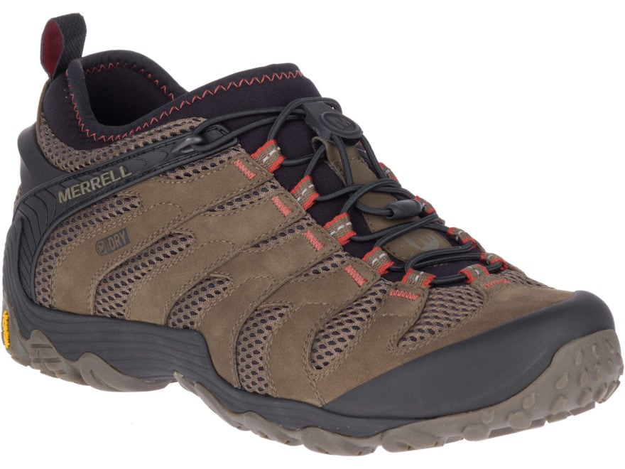 "Merrell Chameleon 7 Stretch 4"" Waterproof Hiking Shoes Leather/Nylon Men's"