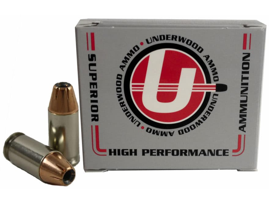 Underwood Ammunition 380 ACP +P 90 Grain Hornady XTP Jacketed Hollow Point Box of 20