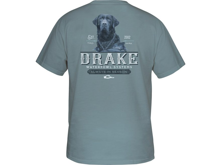 Drake Men's Black Lab Short Sleeve T-Shirt Cotton