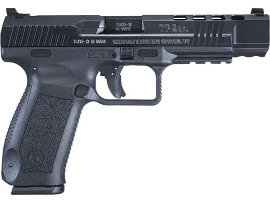 """Canik TP9SFL Pistol 9mm Luger 5.2"""" Barrel 18-Round Polymer Black"""