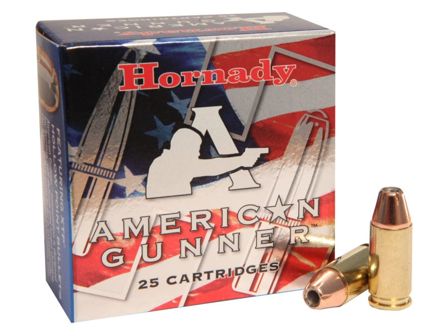 Hornady American Gunner Ammunition 9mm Luger +P 124 Grain XTP Jacketed Hollow Point Box...