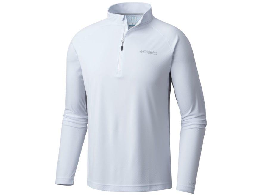 Columbia Men's Cast Away Zero II 1/4 Zip Shirt Long Sleeve Polyester
