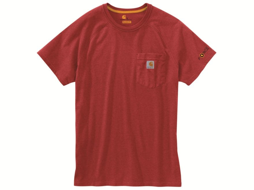 Carhartt Men's Force Delmont T-Shirt Short Sleeve Cotton/Polyester