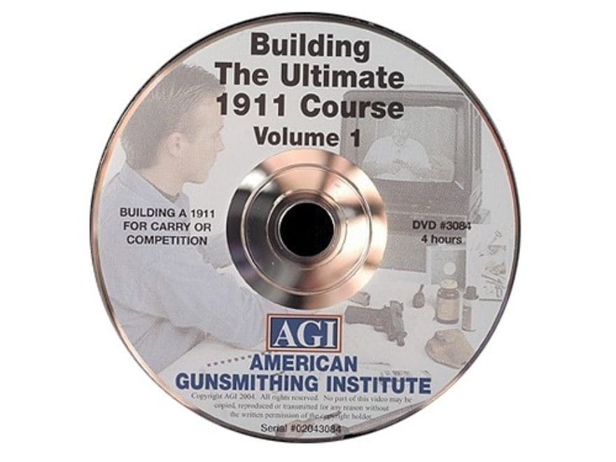 "American Gunsmithing Institute (AGI) Video ""The Ultimate 1911"" Volume 1 DVD"