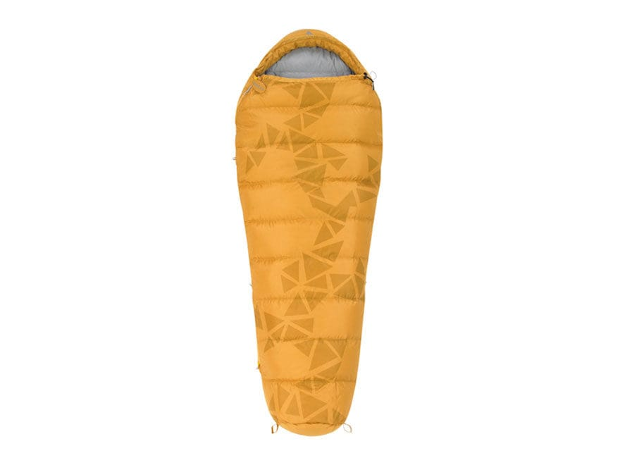 Kelty Cosmic Down 40 Degree Long Sleeping Bag Polyester Golden Yellow
