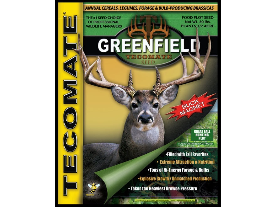 Tecomate Greenfield Annual Food Plot Seed 20 lb