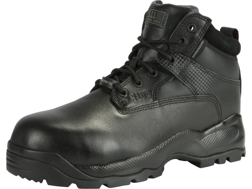"5.11 ATAC Shield 6"" Safety Toe Tactical Boots Leather Black Men's"