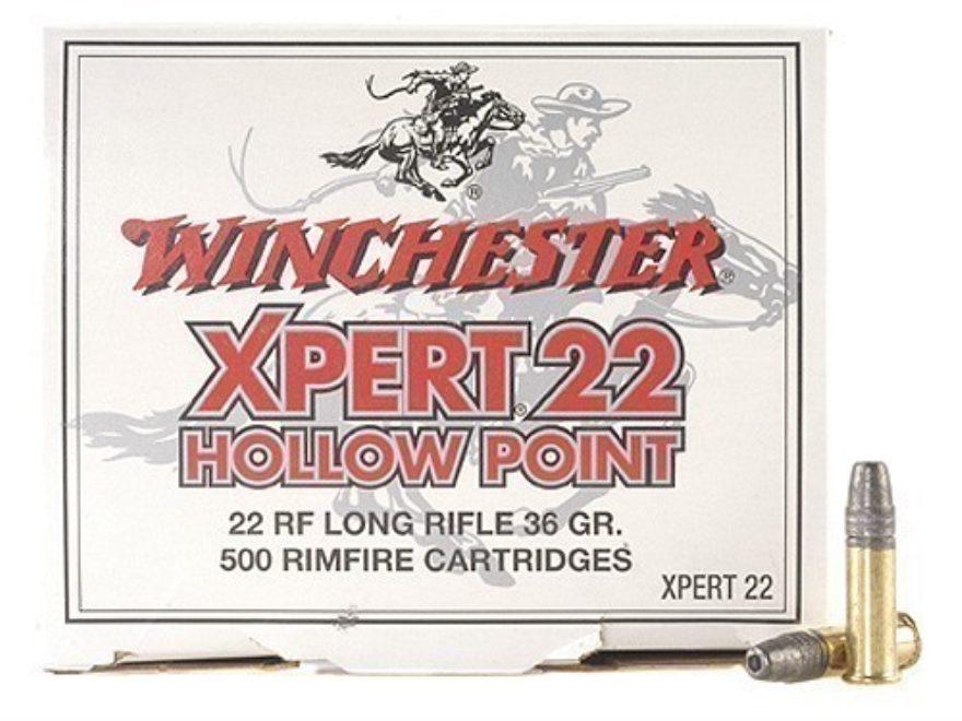 Winchester Xpert Ammunition 22 Long Rifle High Velocity 36 Grain Lead Hollow Point