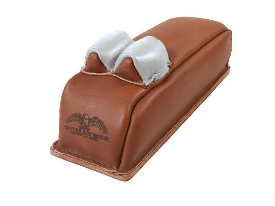 Protektor Super Slick Silver Bunny Ear Loaf Rear Shooting Rest Bag Leather Tan Filled