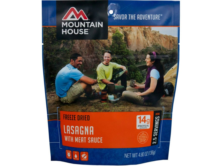 Mountain House Lasagna with Meat Sauce Freeze Dried Food 4.8 oz
