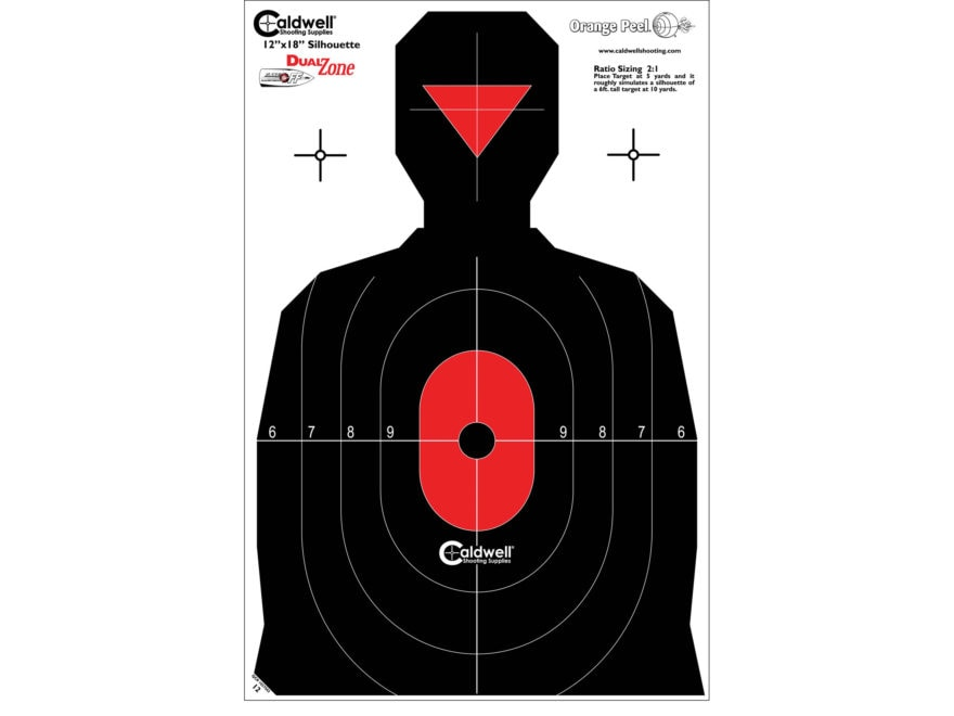 Caldwell Silhouette Dual Zone Target