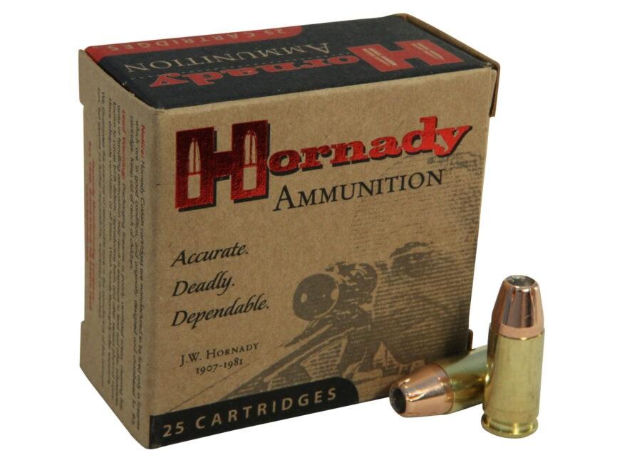 Hornady Custom Ammunition 9mm Luger 147 Grain XTP Jacketed Hollow Point Box of 25