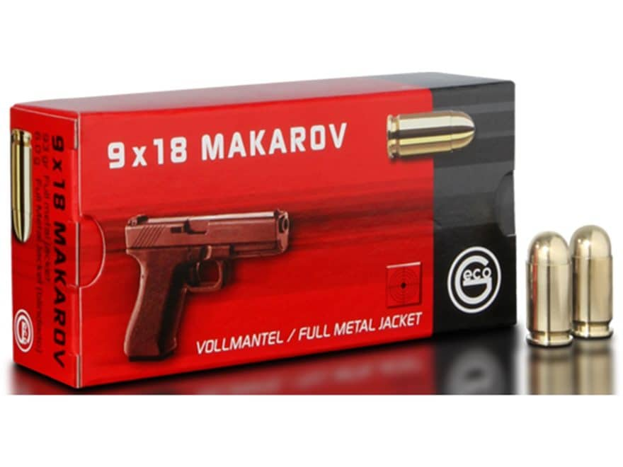 Geco Ammunition 9mm Makarov 95 Grain Full Metal Jacket Box of 50