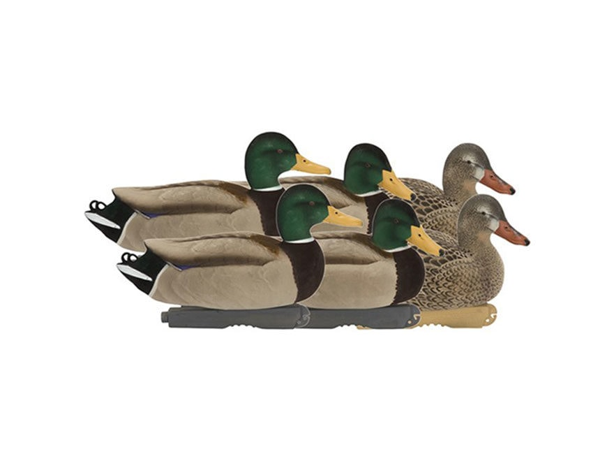 GHG FFD Pro-Grade Mallard Active Duck Decoy Pack of 6