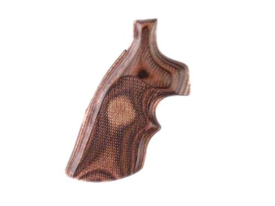 Hogue Fancy Hardwood Grips with Top Finger Groove Colt Trooper Mark III Checkered Rosew...