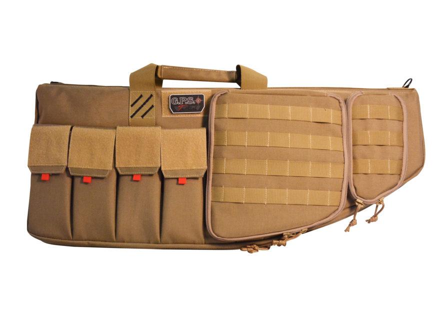 """G.P.S. Tactical AR Case with External Handgun Case 28"""""""