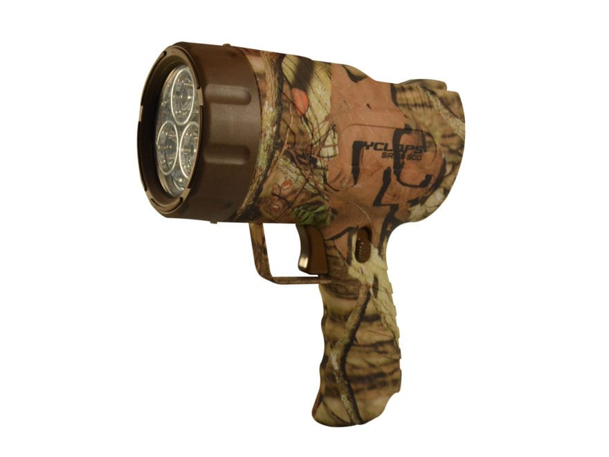 Cyclops Sirius 500 Lumen Spotlight LED Rechargeable 6V Battery Polymer Mossy Oak Camo