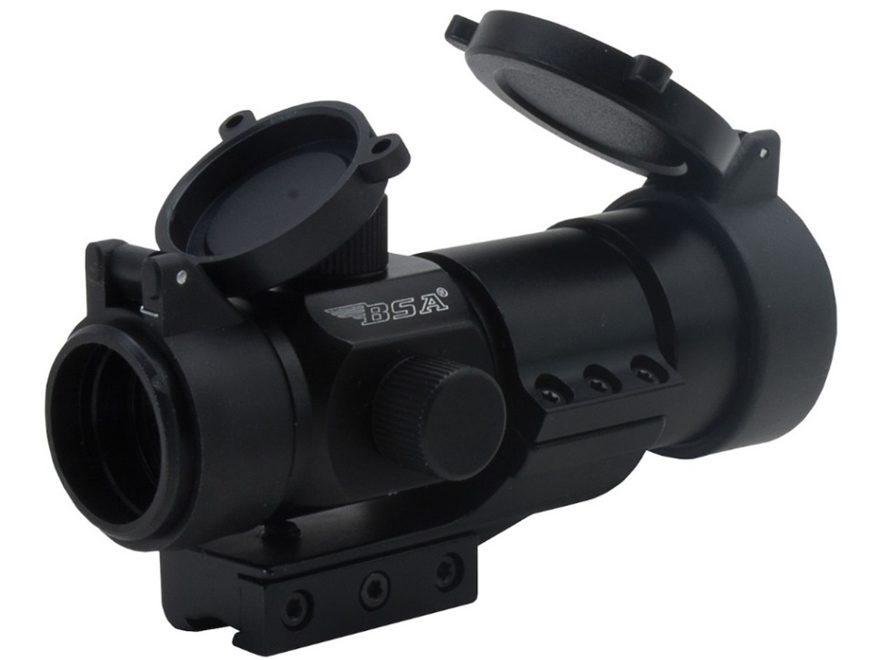 BSA 30RD-2M Red Dot Sight 1x 30mm 5 MOA Red Dot with Weaver and Dovetail Mounts Matte