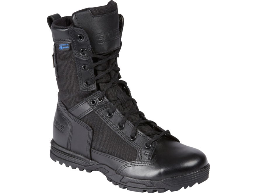 """5.11 Skyweight 8"""" Side Zip Tactical Boots Leather Black Men's"""